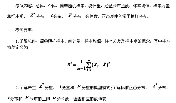2016考研数学大纲解析——概率之数理统计