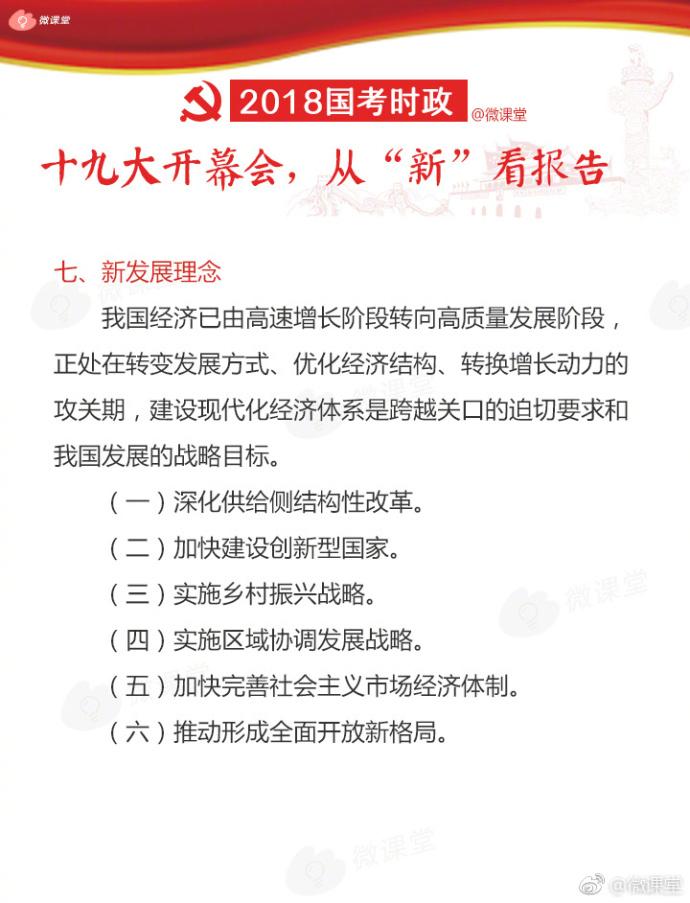 """2018考研时政:从""""新""""看十九大会议报告(5)"""