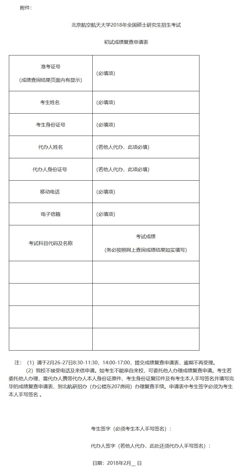 北京航空航天大学2018年考研成绩查询入口
