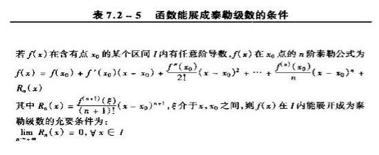 函数展成泰勒级数条件