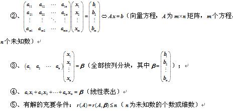 2020考研线性代数公式大全:矩阵的初等变换与线性方程组